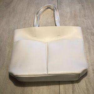 Neiman Marcus White leather tote NWOT